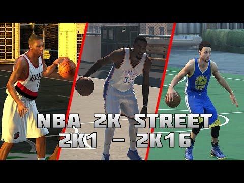 History of NBA 2K Street Blacktop - (2K1-2K16)