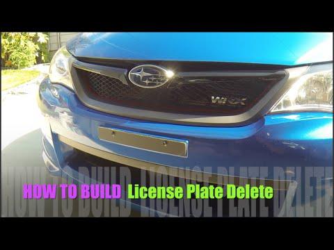 DIY Front License Plate Delete