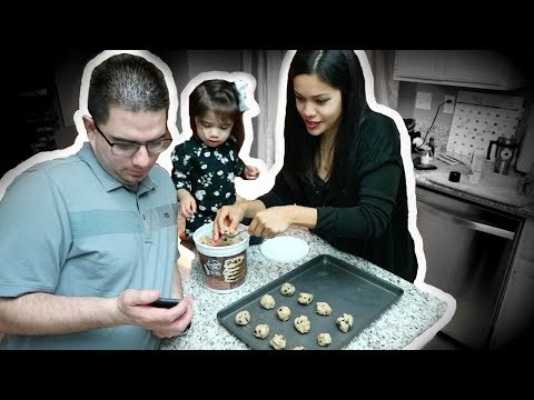 Baking with our 2 yr old! (SUPER CUTE!)