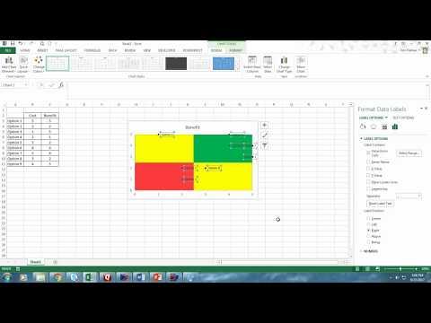 Multi-colored quadrant chart in Excel