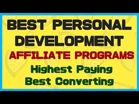 Best Personal Development Affiliate Programs -  $3.50 EPC and $15.52 EPO