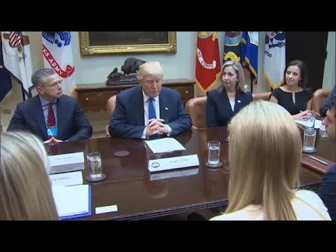 Trump pledges to end human trafficking