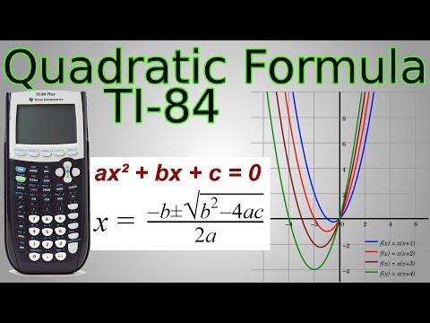 TI-84 Quadratic Formula Program & Factoring (works for complex/imaginary solutions)