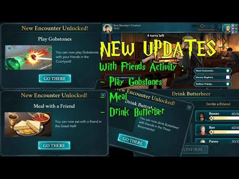 Harry Potter Hogwarts Mystery Play Gobstones, Meal, Drink Butterbeer With Friends