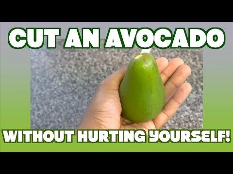 How to Cut Open an Avocado - Avoid Avocado Hand Injury