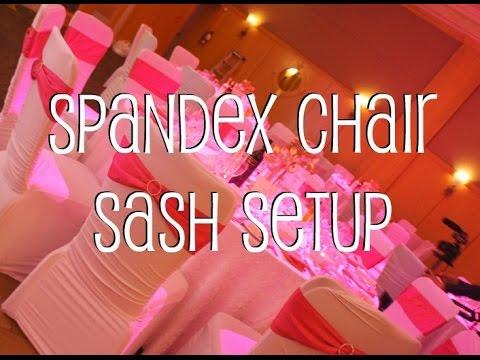 Spandex Chair Sash Setup
