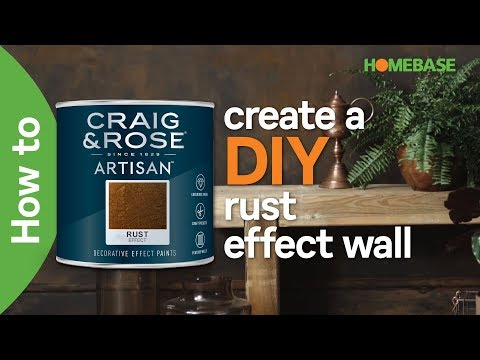 How to create a DIY rust effect wall | Craig & Rose paint | Homebase
