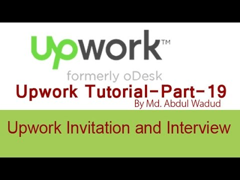 Upwork Invitation to Interview-Upwork Tutorial Part-19