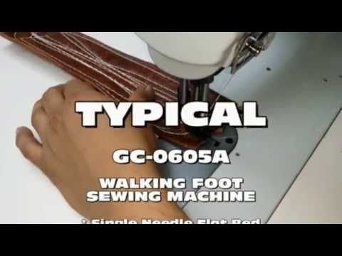 TYPICAL GC-0605A Walking Foot Machine Sewing Leather with 270 Thread