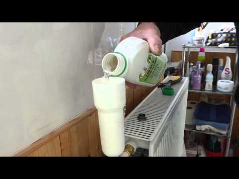How to easily put inhibitor into a radiator on a Combi heating system