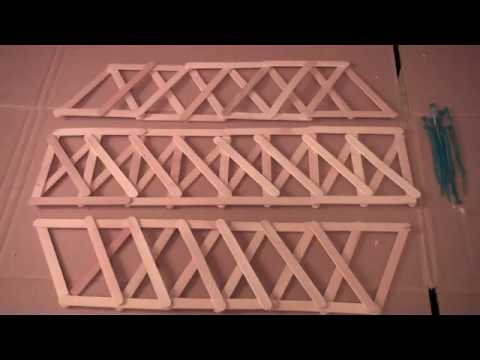 Truss Bridge Project - simple, fundamental engineering project for kids