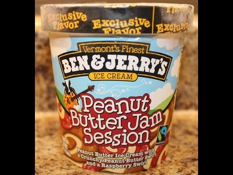Ben & Jerry's: Peanut Butter Jam Session Ice Cream Review