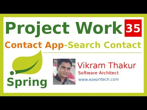 35 - Spring MVC - Project Work | Search Operation (Contact App) - By eZeon