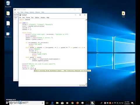 Beginner python hangman console game tutorial