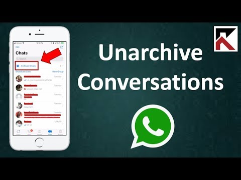 How To Unarchive A Conversation On WhatsApp iPhone