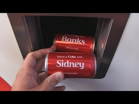 Get your own personalized Coke can at the Share A Coke Tour