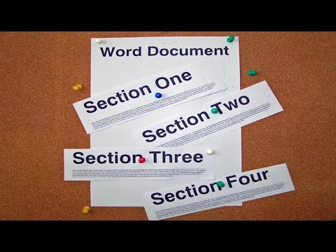 Quick and Easy Sections in Word Documents.