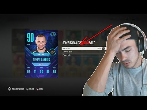 QUICKSELLING 90 OVR FLASHBACK GABORIK?! | NHL 18 HUT