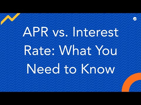 APR vs Interest Rate