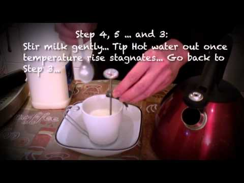 How to heat up milk without a coffee machine (Cafe Series)