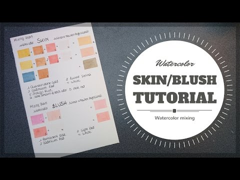 How to mix skin colors? || Tutorial || Watercolor