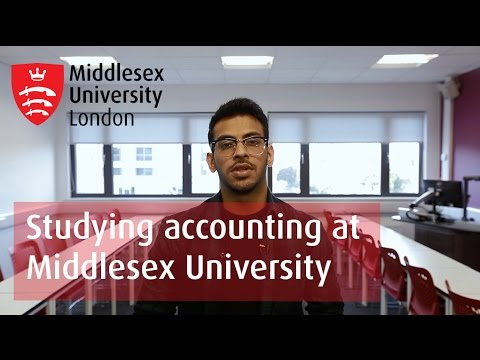 Studying accounting at Middlesex University