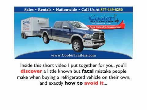 Small refrigerated trailers for sale with superior design- Cooler Trailers
