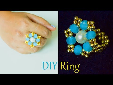 DIY easy and quick own ring | How to make finger ring | jewelry | Beads art