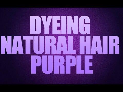 Dyeing Natural Hair Purple