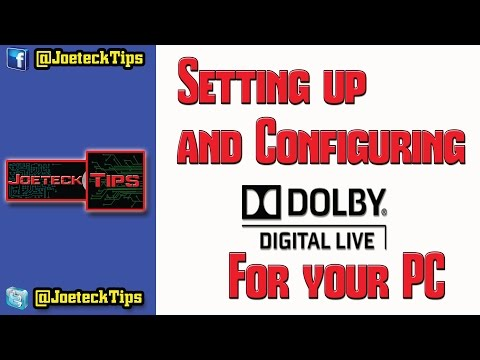 How to Setup and Configure Dolby Digital Live for your PC - Optical