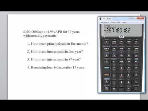 HP 10B II Loan Amortization