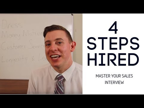Hired Today - Get a Sales Job in 4 Steps - Interview
