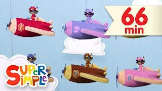10 Little Airplanes   + More Kids Songs   Super Simple Songs