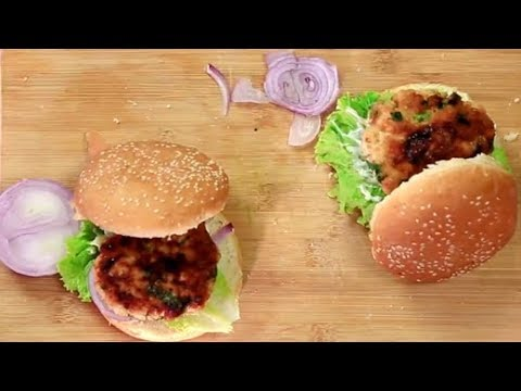 How To Make Chicken Burger at Home   Homemade Chicken Burger Recipe   Easy Burger Recipe