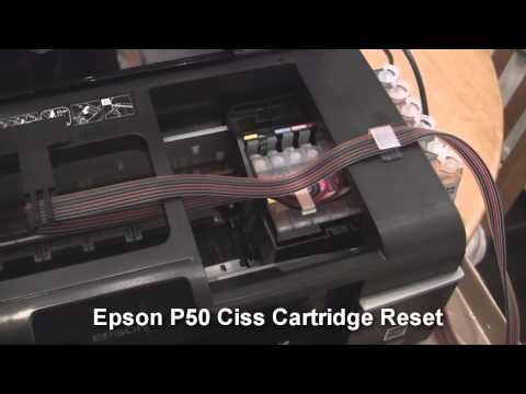 Epson P50 Printer Reset Ciss Cartridge Not Recognised Fix Help