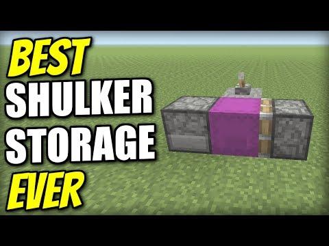 Minecraft - BEST SHULKER STORAGE EVER - Redstone Tutorial - Xbox / PS4 / PS3 / Switch