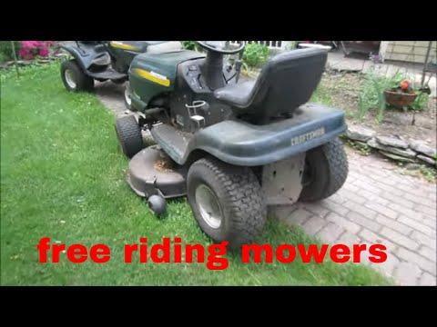 will it run? free craftsman riding mower