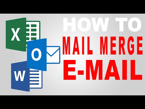 How To Create a Mail Merge for E-mail Using Microsoft Outlook, Word & Excel 2010