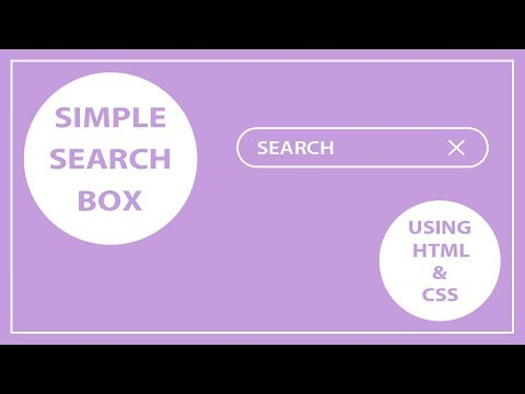 How to create the Simple Search Box Using HTML and CSS - CSS Search Box - HTML Search Box