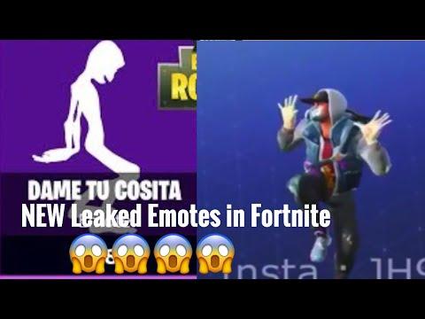 NEW Leaked Fortnite Emotes Including Dame Tu Cosita 😱😱😱😱