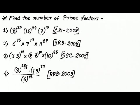 What is Prime Factors & Find no. of Prime Factors (In Hindi)
