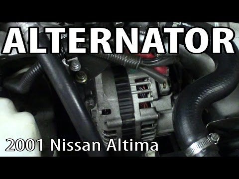 How to Replace an Alternator on a 2001 Nissan Altima