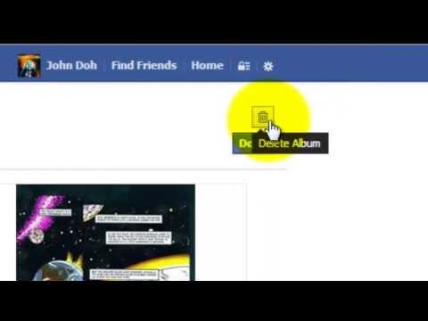 How to Delete an Album in Groups on Facebook 2013