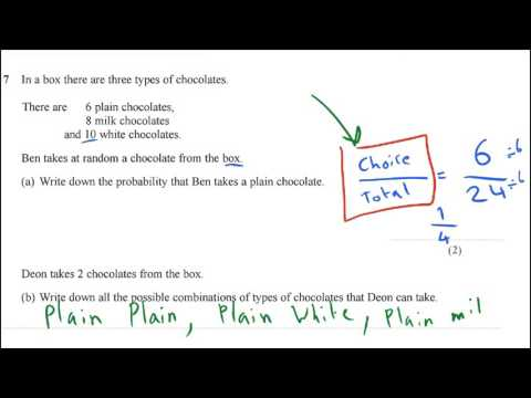 New Spec GCSE Maths: How to do Probabilities Including Picking from a Bag