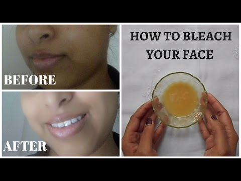 HOW TO BLEACH YOUR FACE NATURALLY AT HOME || GET EVEN-TONED & BRIGHTER SKIN WITHOUT CHEMICALS