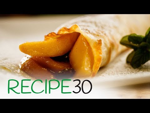 French Apple Crepes, a thin apple pancake recipe