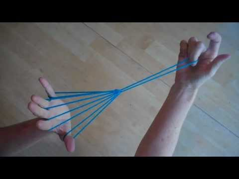 Witches Broom (or parachute), Step by Step, with string