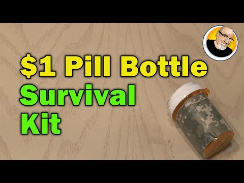 $1 Pill Bottle Survival Kit!