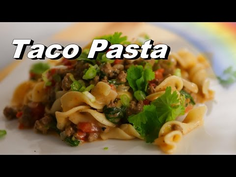 Taco Pasta, Homemade Hamburger Helper, One Skillet & Cooking on a Ceramic Top Stove