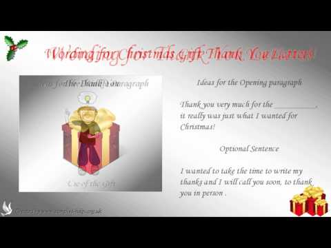 How to write a Christmas Gift Thank You Letter